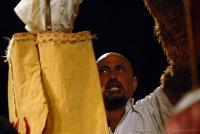 Ritratto Salvatore Gatto durante spettacolo 500 anni portati bene © giorgio cossu
